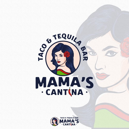 Vintage brand with the title 'Mama's Cantina'