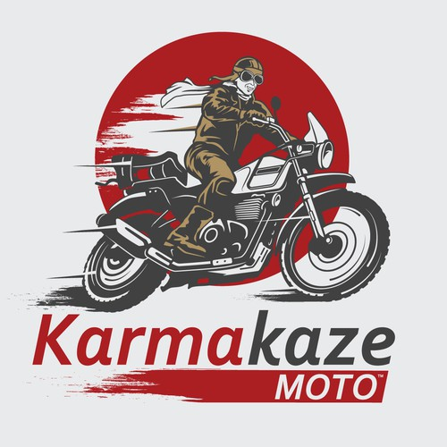 Detailed logo with the title 'Logo for Motorcycle adventure channel '