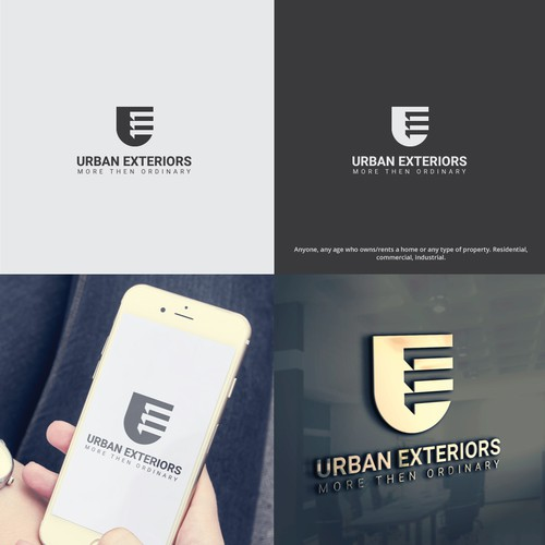 Exterior design with the title 'Professional Logo for Home/Real Estate Exterior Company'