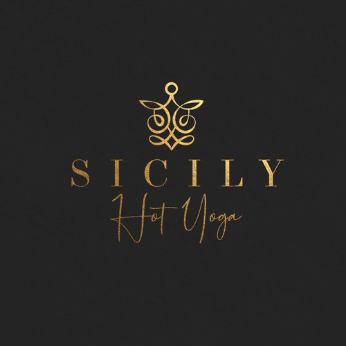 Facial logo with the title 'Sicily Hot Yoga'