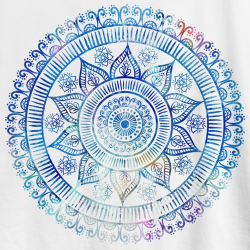 Mandala design with the title 'Yoga T-shirt'