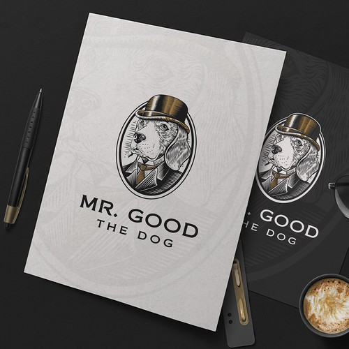Doberman logo with the title 'Mr. Good the Dog'
