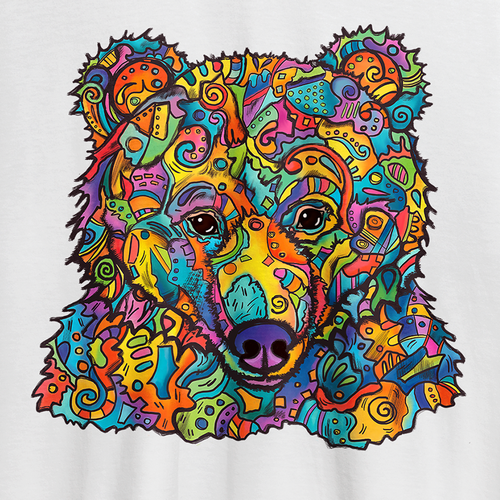 Bear t-shirt with the title 'Colorful bear t-shirt design'