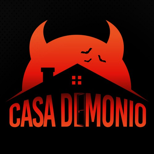 Bat design with the title 'CASA DEMONIO'