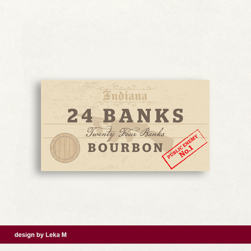 Bank logo with the title '24 Banks Bourbon'