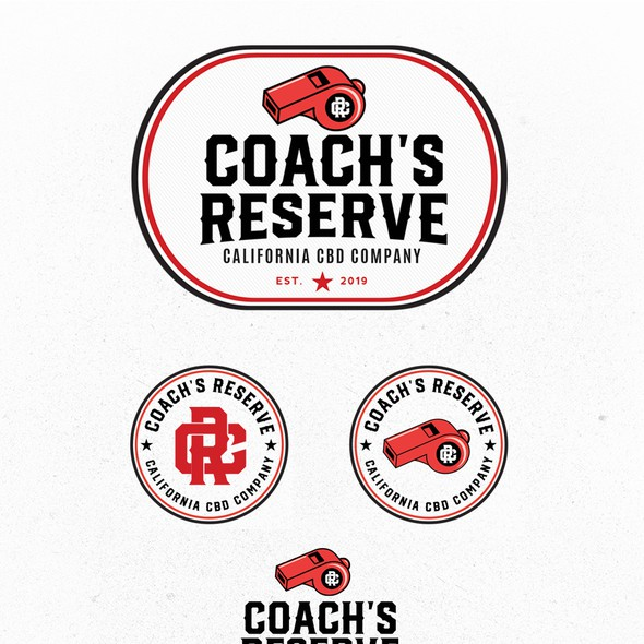 Whistle logo with the title 'COACH'S RESERVE - CBD brand'