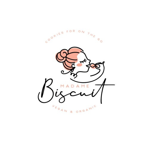 Vegan logo with the title 'Logo for Madame Biscuit'