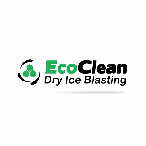 Cleaning and maintenance logo with the title 'Eco Clean logo'