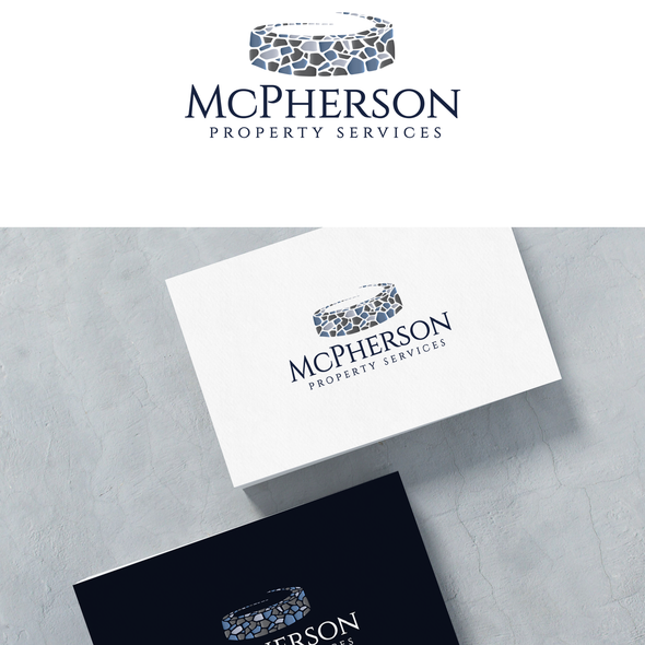 Stone design with the title 'Logo for McPherson'