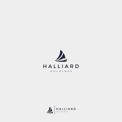 Nautical logo with the title 'Halliard'