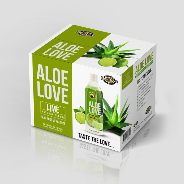 Juice packaging with the title 'package and Logo design'