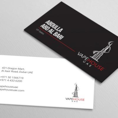 bold business card design concept