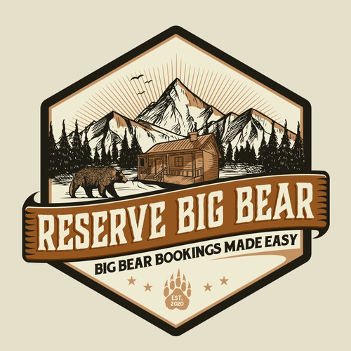 Bear face logo with the title 'Reserve Big Bear'