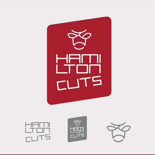 Butchery logo with the title 'HamiltonCuts Instagram Logo'