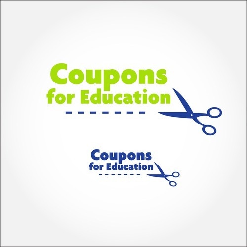 Coupon company logo with the title 'Logo Proposal for Coupons for Education'