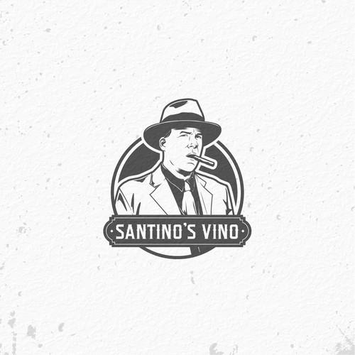 Mafia logo with the title 'Santino's Vino'