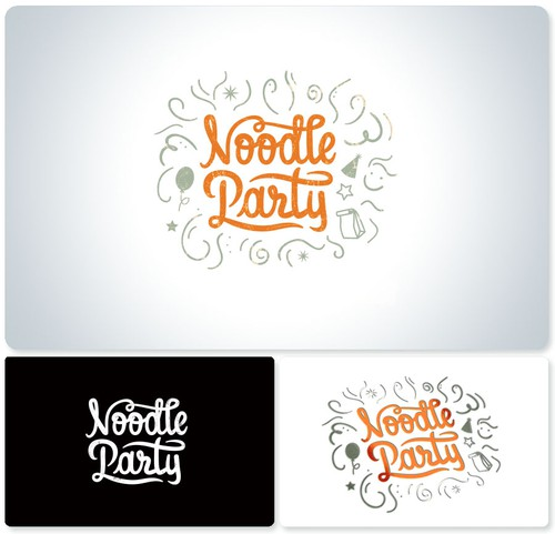 Noodle logo with the title 'Noodle Party is looking for a fun, epic and modern new logo design!'