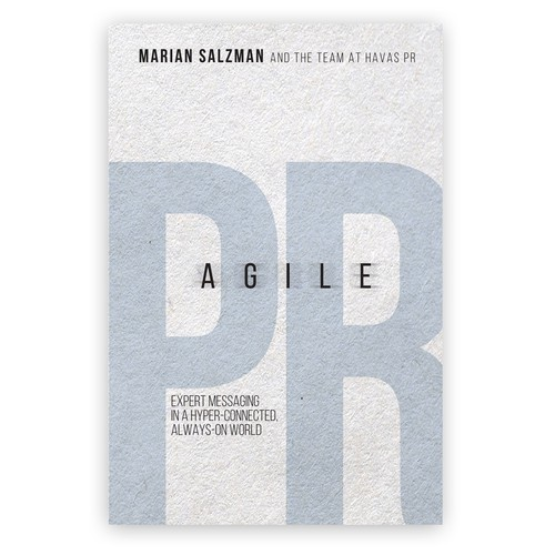 Movement design with the title 'Agile public relations'