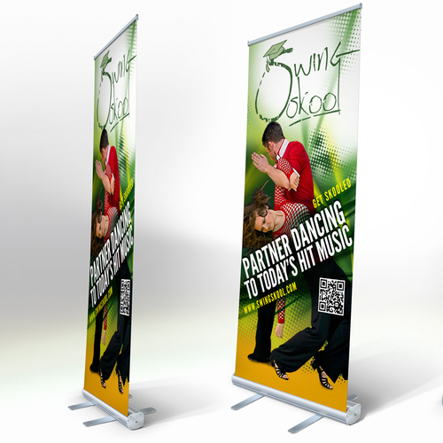 Swing design with the title 'Design an exciting banner for a modern dance style'