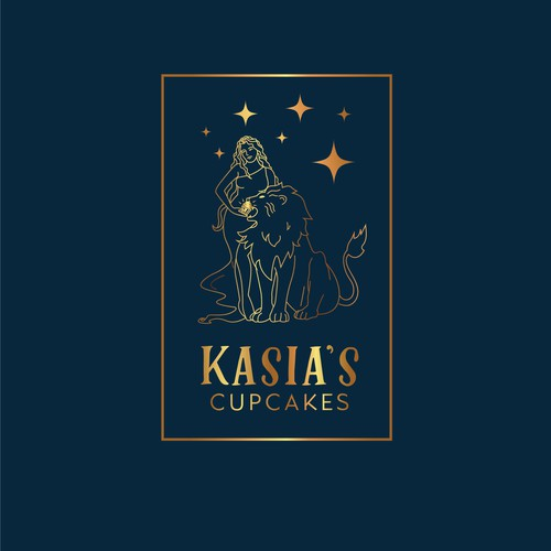 Tarot design with the title 'Magical Cupcake Logo'