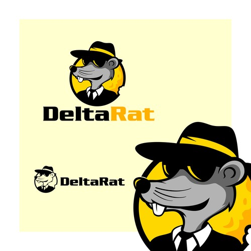 Rat logo with the title 'Rat Mascot Logo'