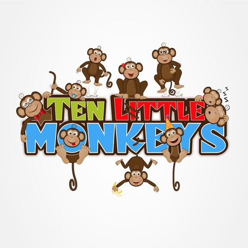 Number 10 logo with the title 'Ten little monkyes'