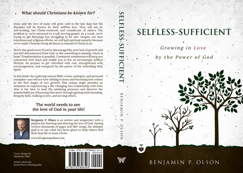 Self-help book cover with the title 'Selfless-Sufficient'
