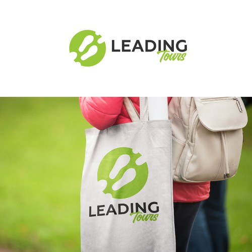Lead logo with the title 'Travel Logo for Leading Tours'