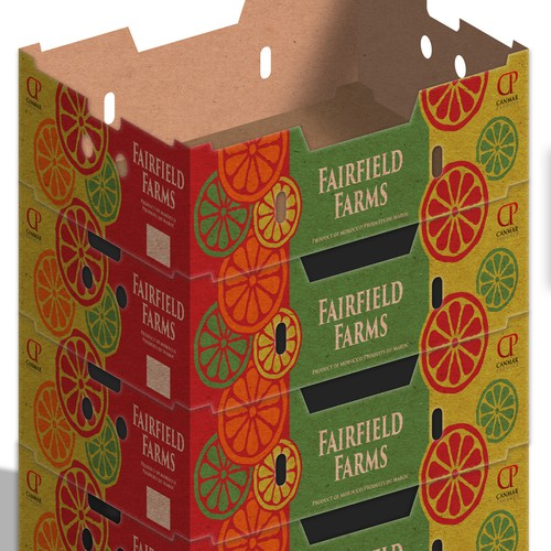 Citrus design with the title 'Design of the box for Canmar Produce'
