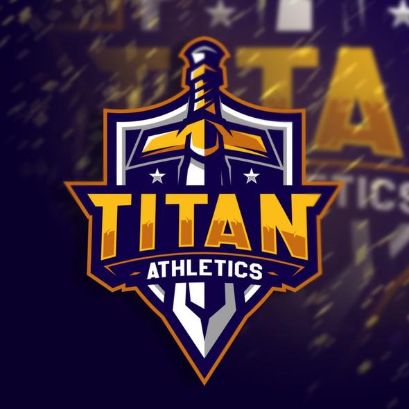 Titan logo with the title 'Titan Athletics'