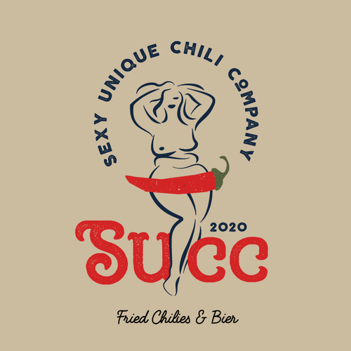Hot logo with the title 'Fried chili peppers & Bier'