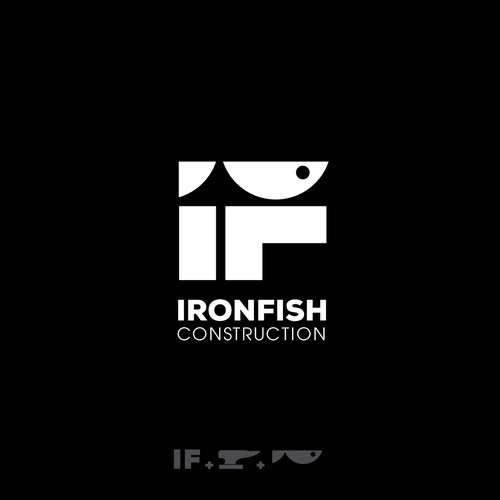 Anvil design with the title 'Iron Fish'