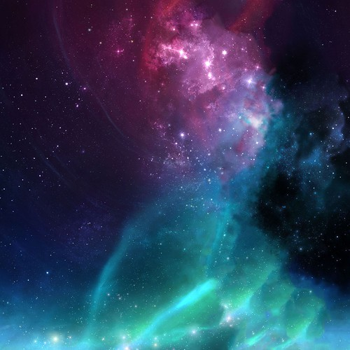 Galaxy illustration with the title 'Alun Nebula'