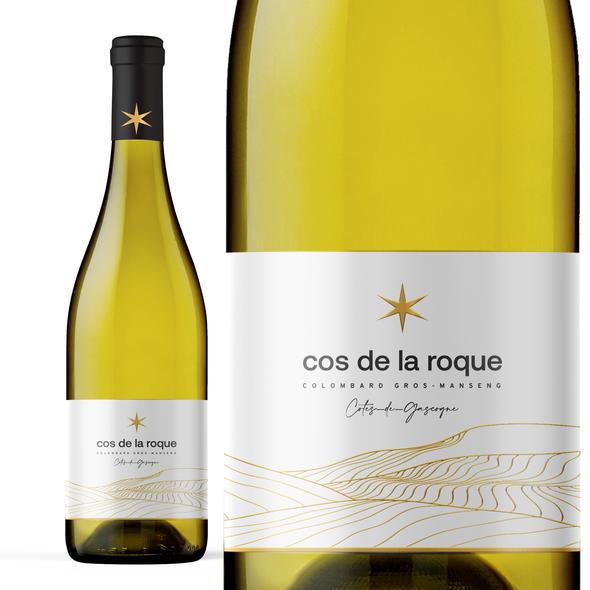 Winery label with the title 'Cos De La Roque'