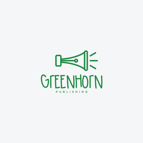 Horn logo with the title 'Greenhorn Publishing'