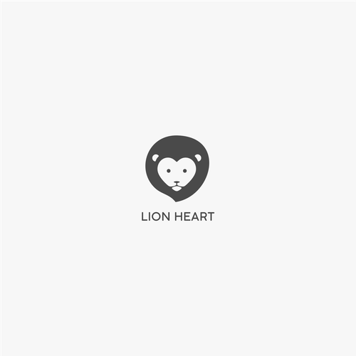 Lion head logo with the title 'Lion Heart'