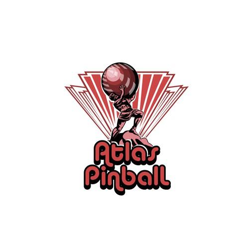 Atlas logo with the title 'ATLAS PINBAL'