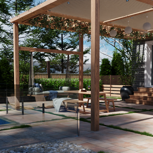 Remodeling design with the title '3D Landscaping Project'