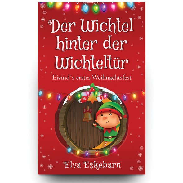 X-mas design with the title 'The Christmas book for children'