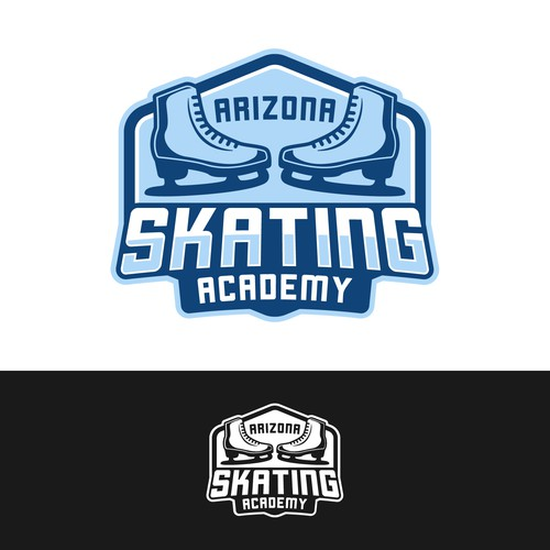 Skating design with the title 'Arizona Skating Academy Logo Design'