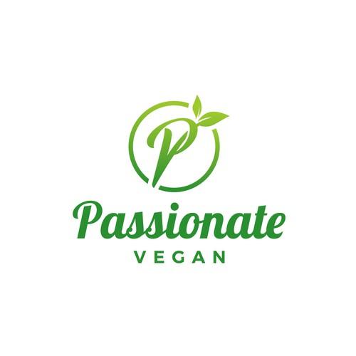 Vegan logo with the title 'Passionate Vegan'
