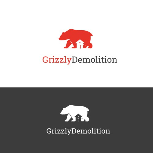 Grizzly logo with the title 'Logo for a Demolition business'