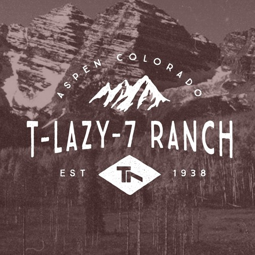 Woods design with the title 'T-Lazy-7 Ranch'