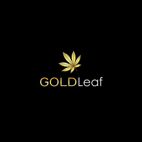 Pot logo with the title 'Gold Leaf'