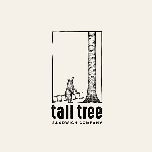 Deli logo with the title 'Tall Tree Sandwich Company logo design'