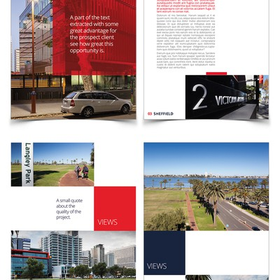 Clean design for Real State Brochure