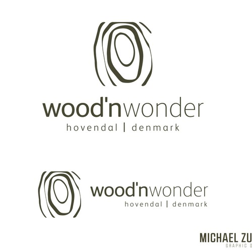 Wood design with the title 'Wood'n Wonder  -  hovendal / denmark Branding'
