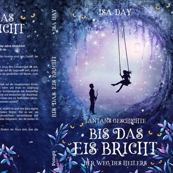 Fairy tale design with the title 'Der weg des Heilers - Book 3, German young-adult fantasy series'