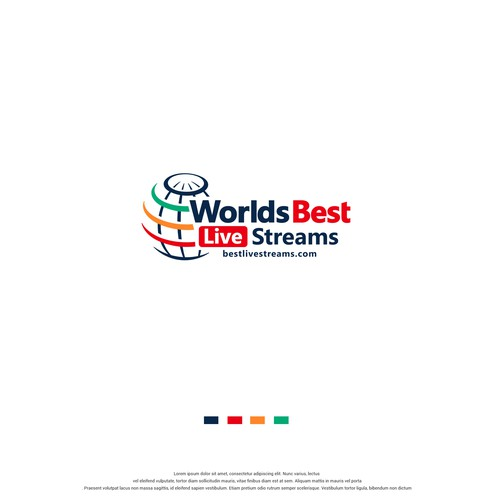Streamer logo with the title 'Worlds best live streams'