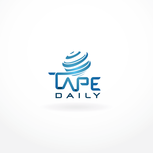 Newspaper logo with the title 'TapeDaily News Website Logo'